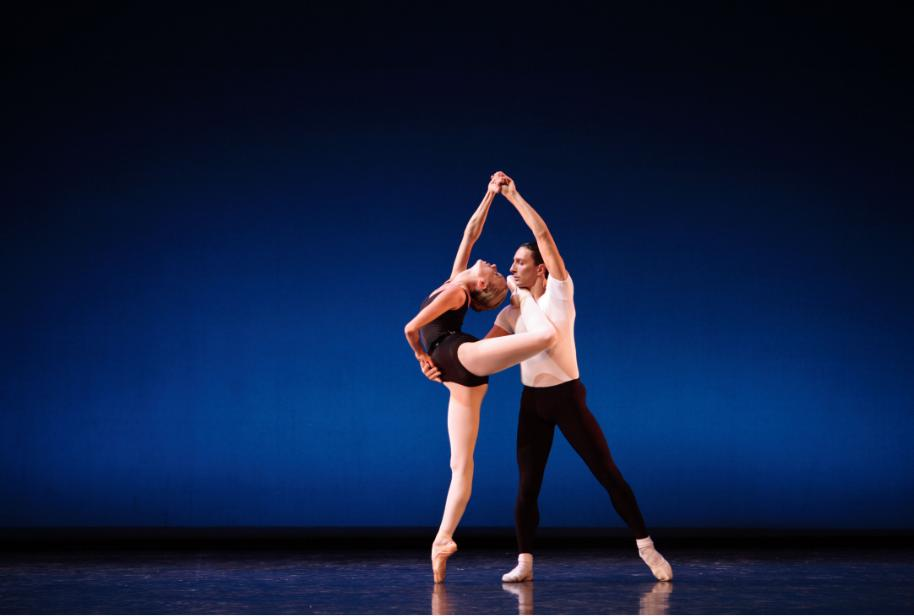 Eve Musto and Erik Cavallari in George Balanchine's Agon, Photograph : Andrew Ross
