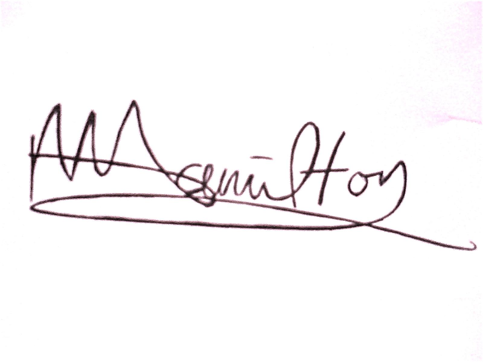 Melissa Hamilton Autograph