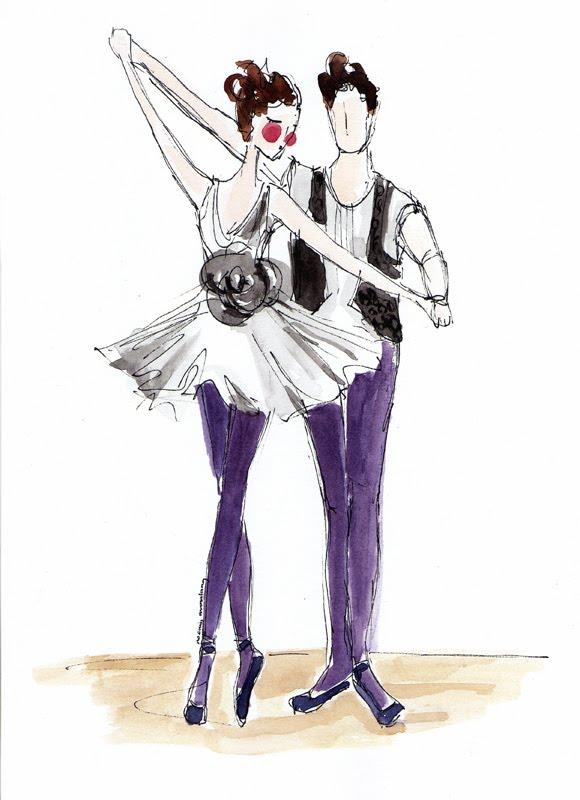 Elisa Badenes watercolor by noomiedoodlesfashion