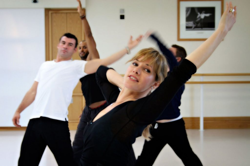 Darcey Bussell in rehearsal clothes