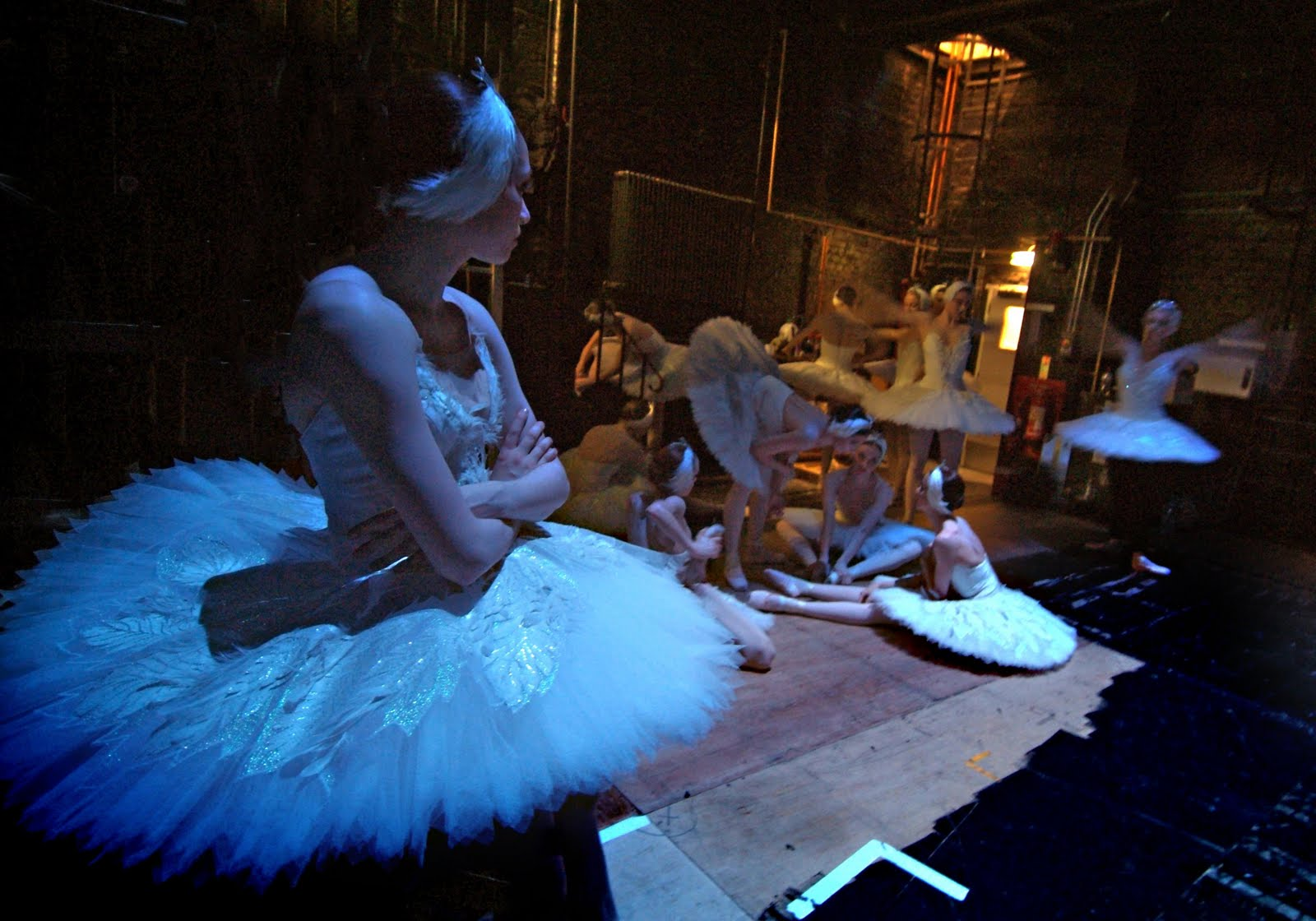 swan lake tutus backstage