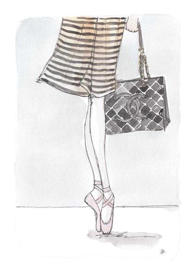 chanel ballet bag