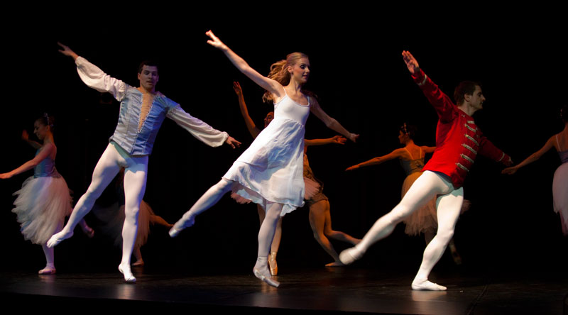 Diarmaid O'Meara, Amy Coughlan and Chris James in the closing waltz