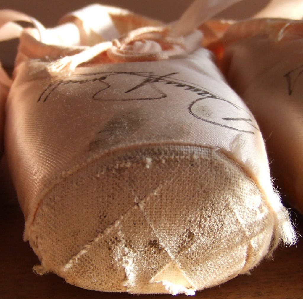 Darcey Bussell's pointe shoes signed