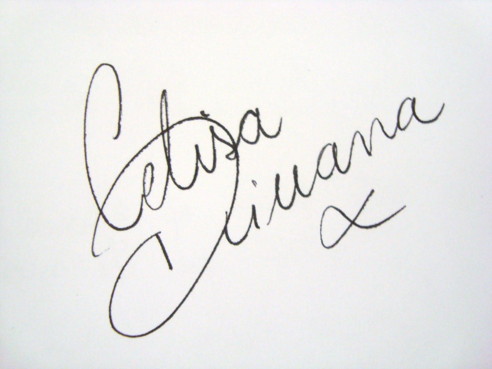 Celisa Diuana Autograph
