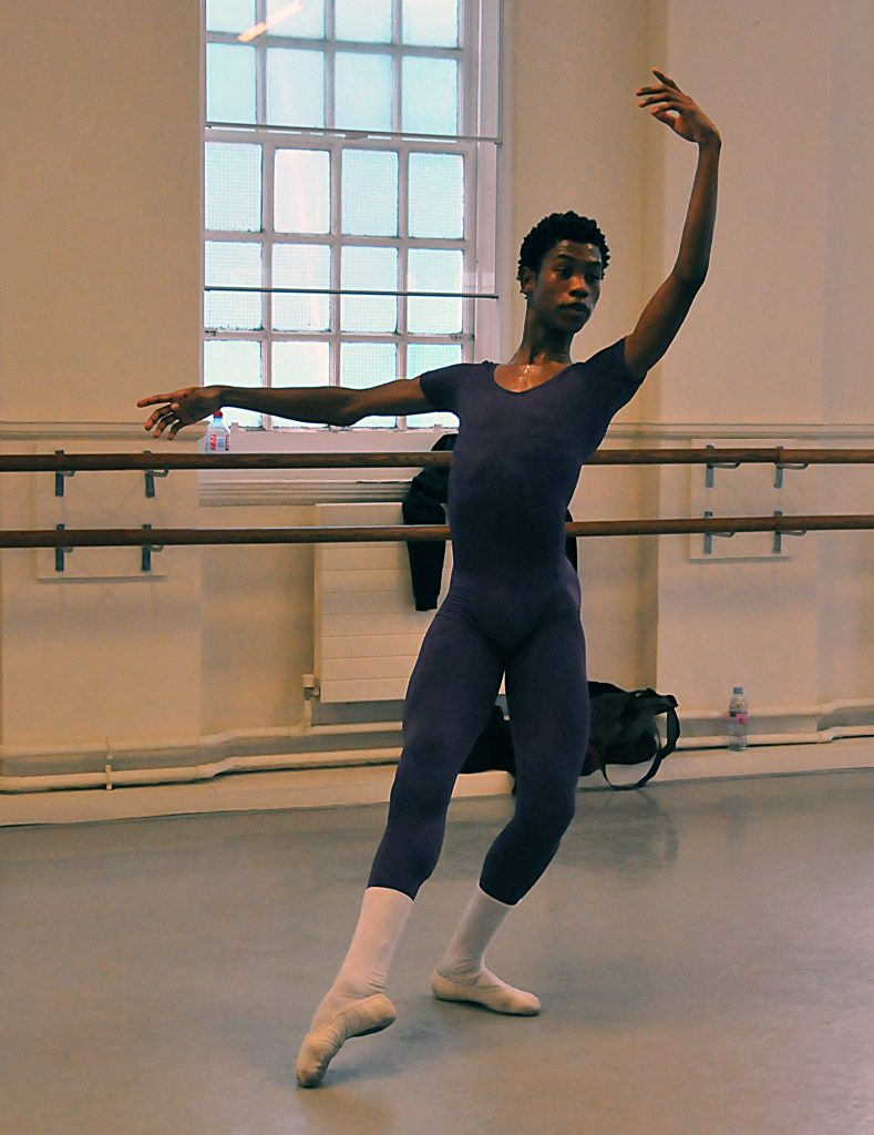 dance student in leotard