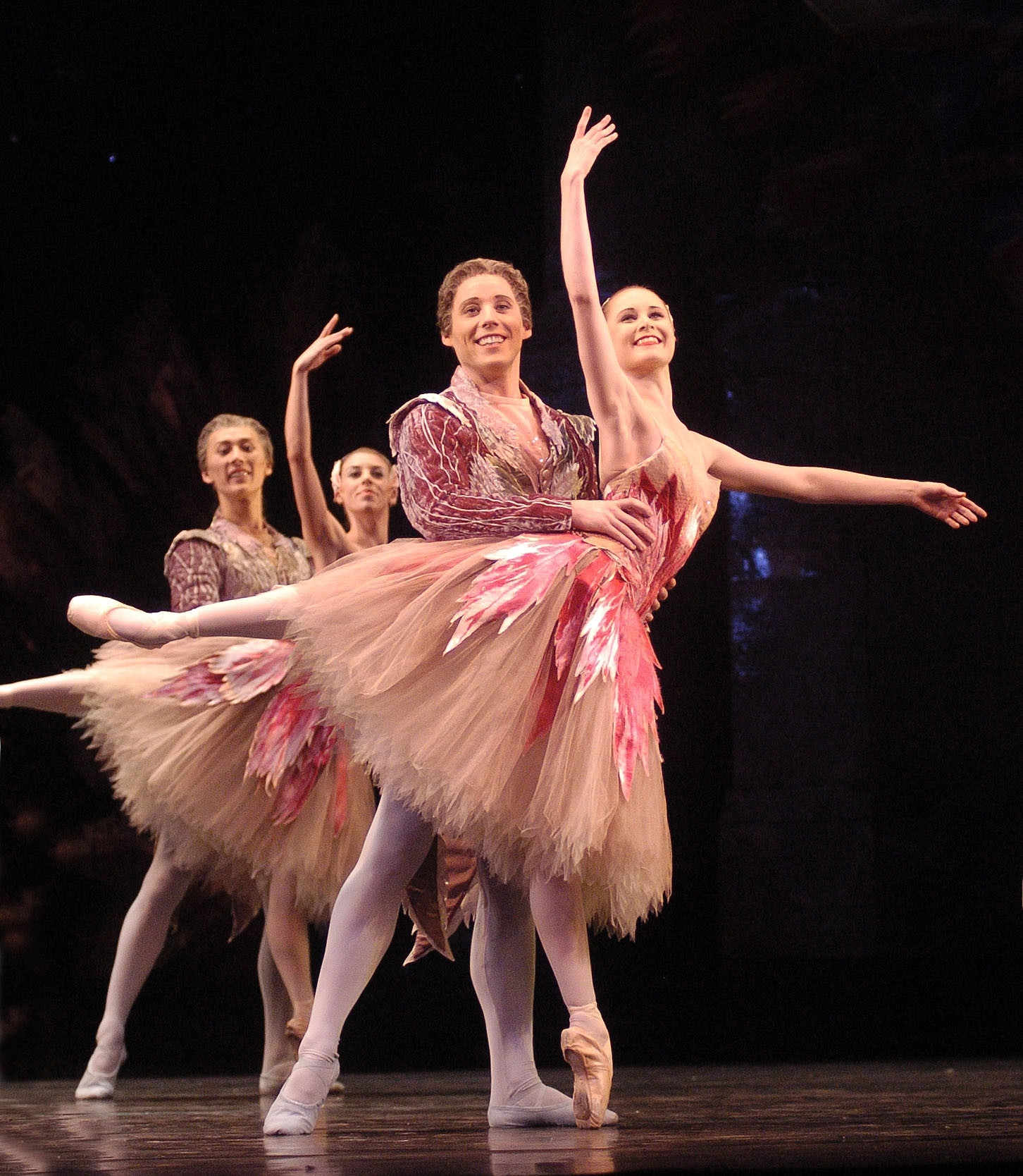 The Nutcracker  Jenna Roberts as a Lead Flower and Steven Montieth as a Consort  photo Roy Smiljanic