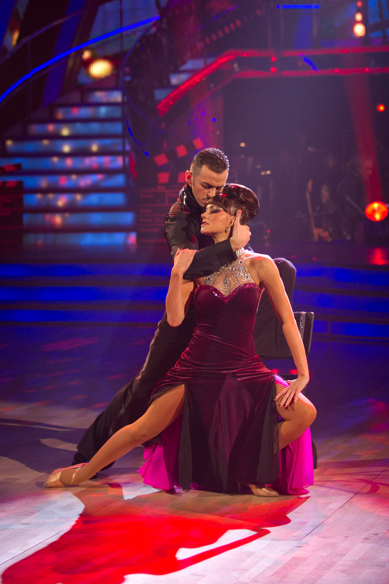two dancers perform the tango