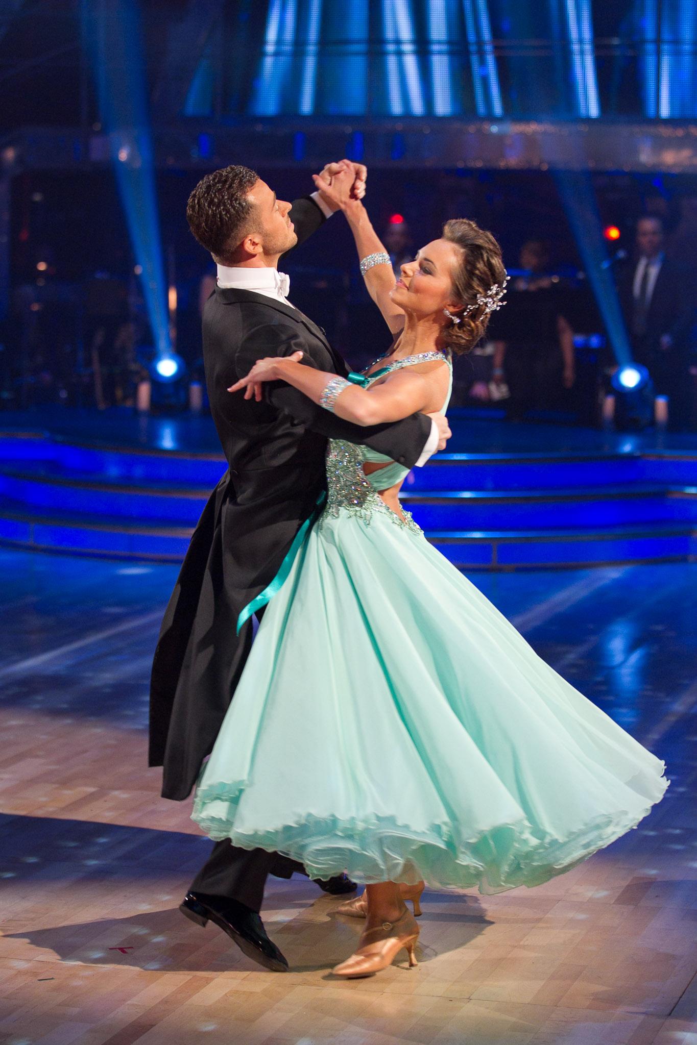 two dancers perform a veinnese waltz