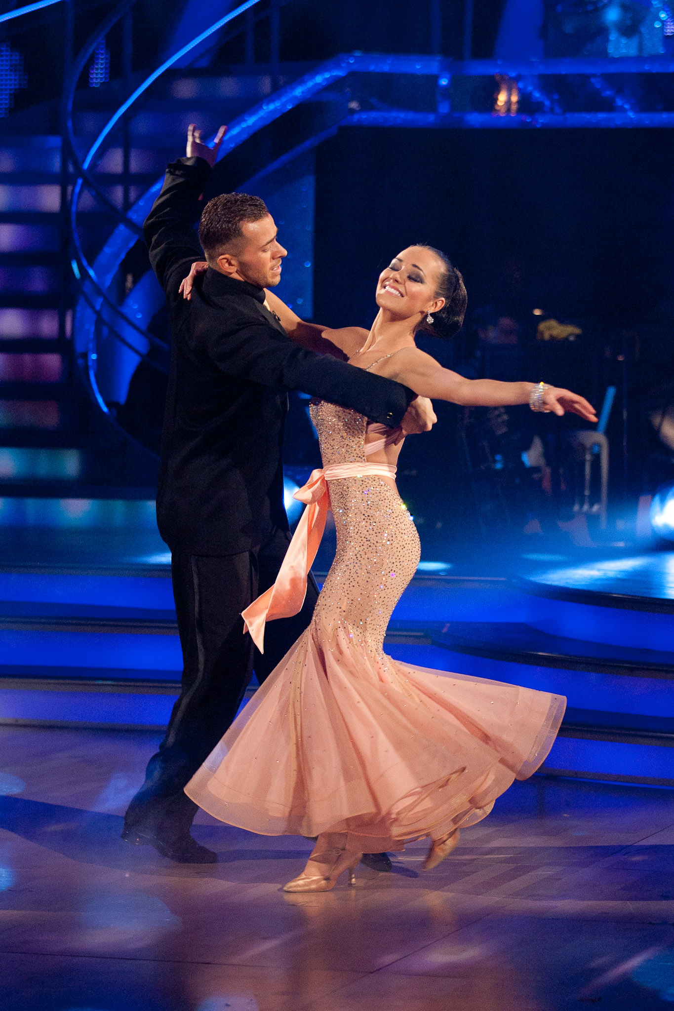 two dancers dance
