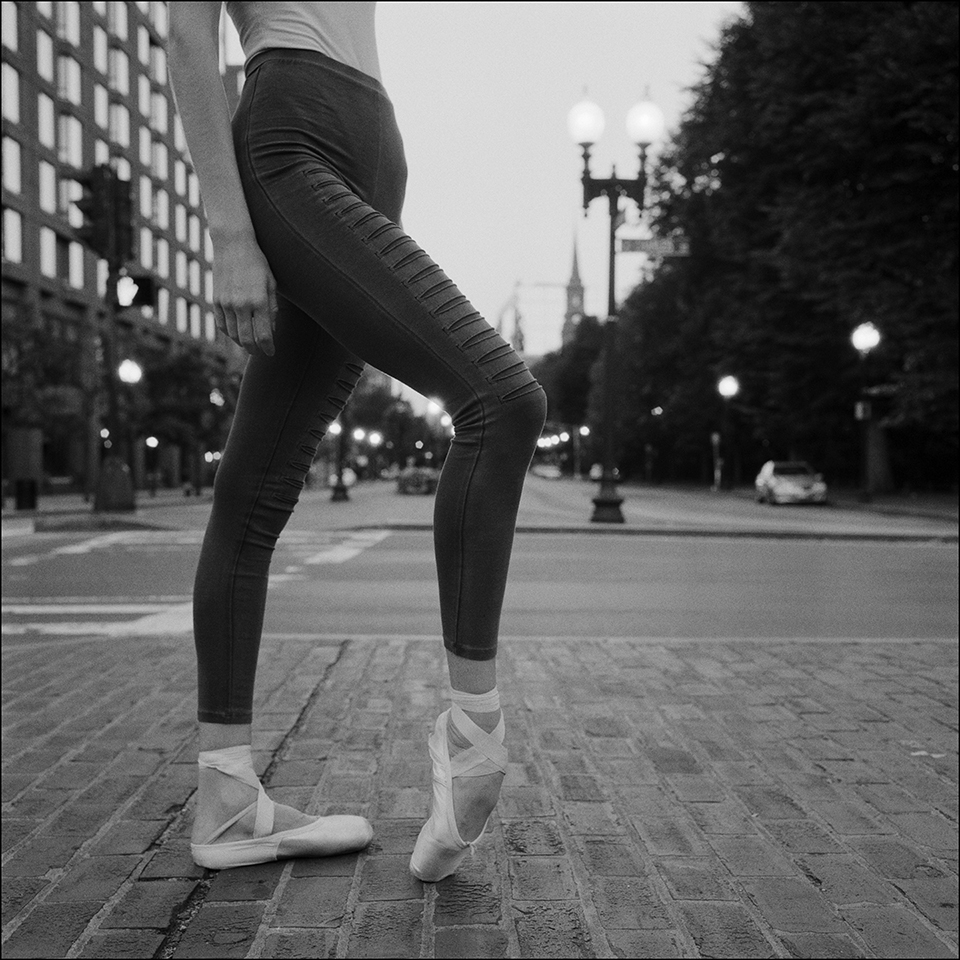 dancer wearing pointe shoes