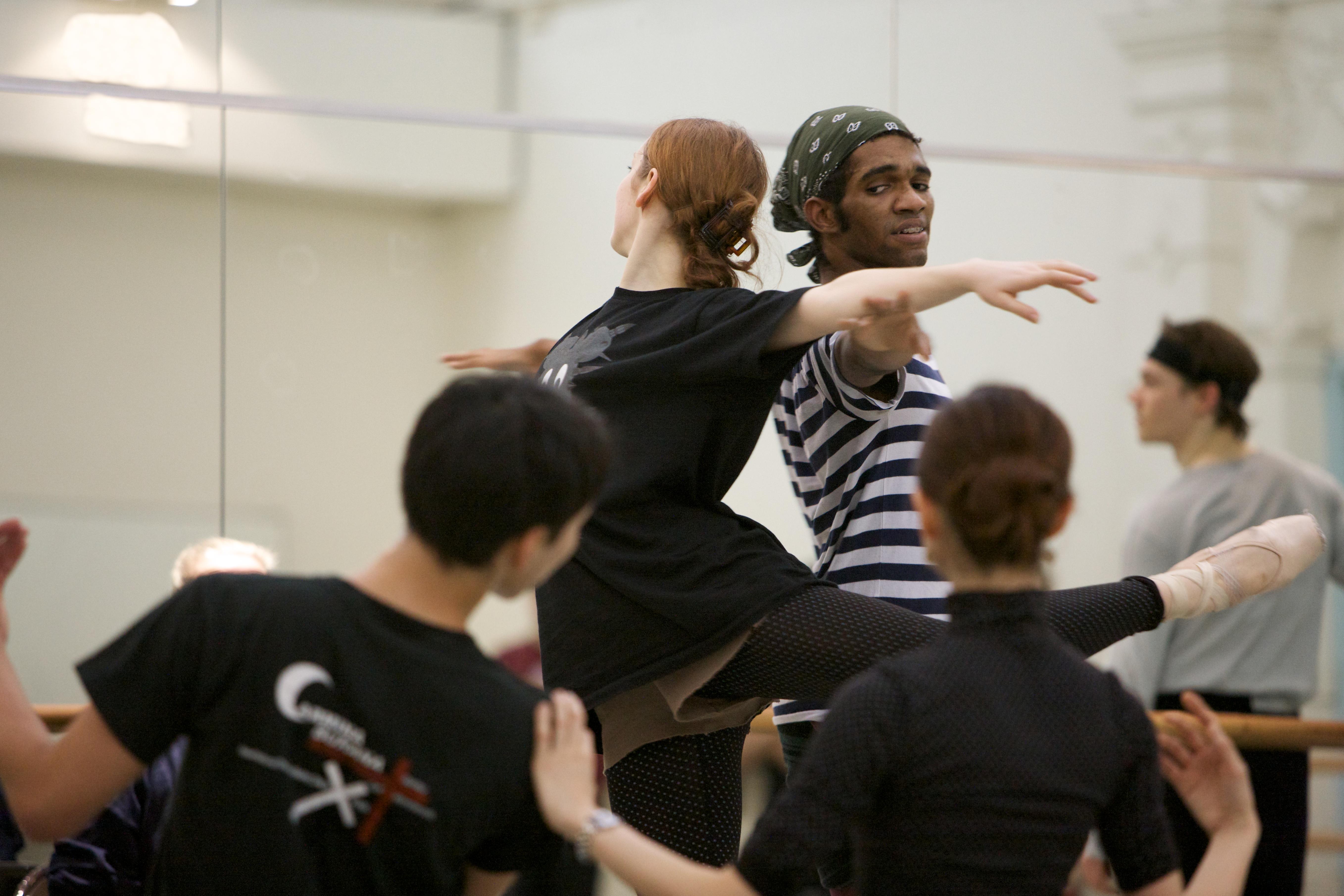 several dancers rehearsing