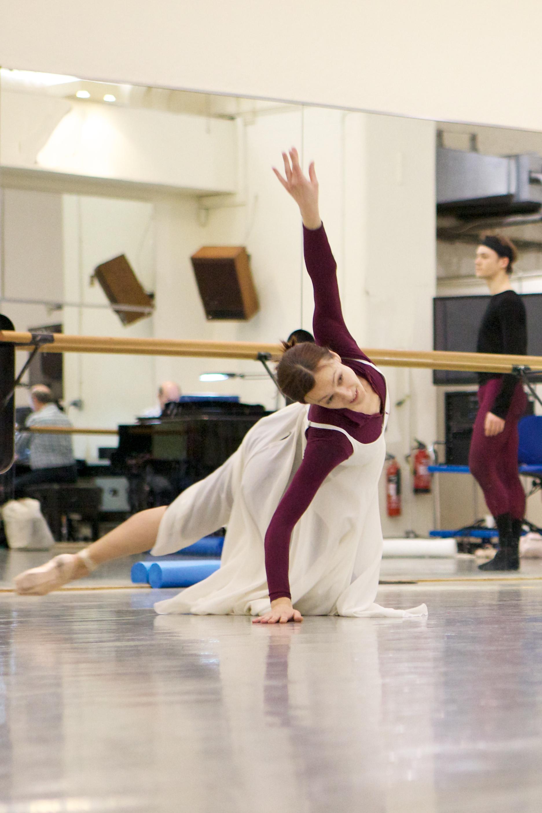Max Westwell & Sarah Mcllroy rehearsing Romeo & Juliet  Photograph : Bex Singleton