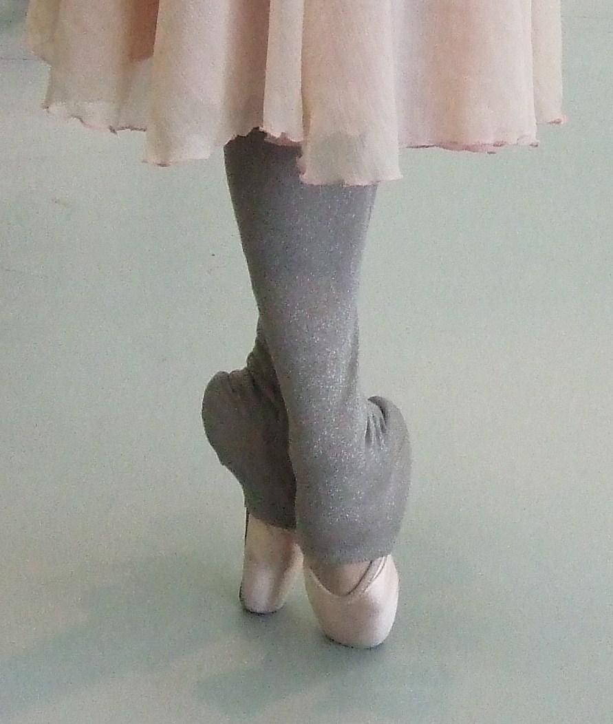 ballet pointe shoes worn by Venus Villa in rehearsal