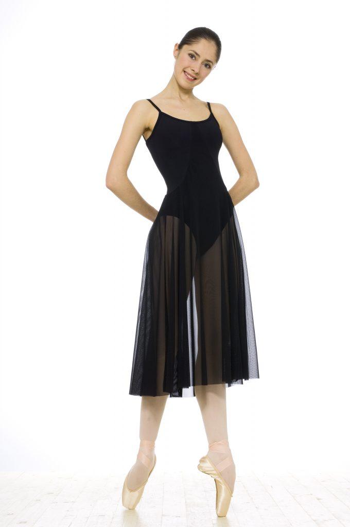 Natalia poses in black dress