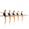 dancers at the barre in arabesque