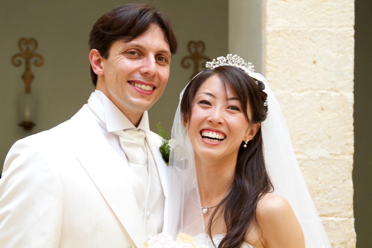 two ballet dancers get married