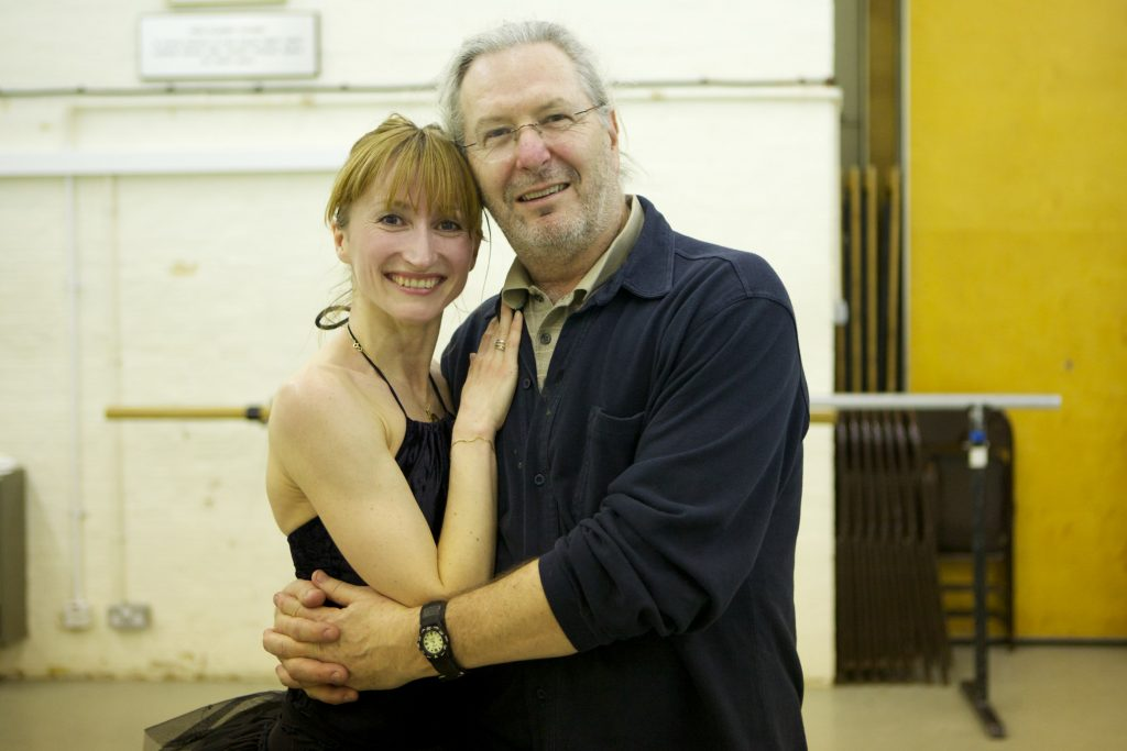 two dancers embrace