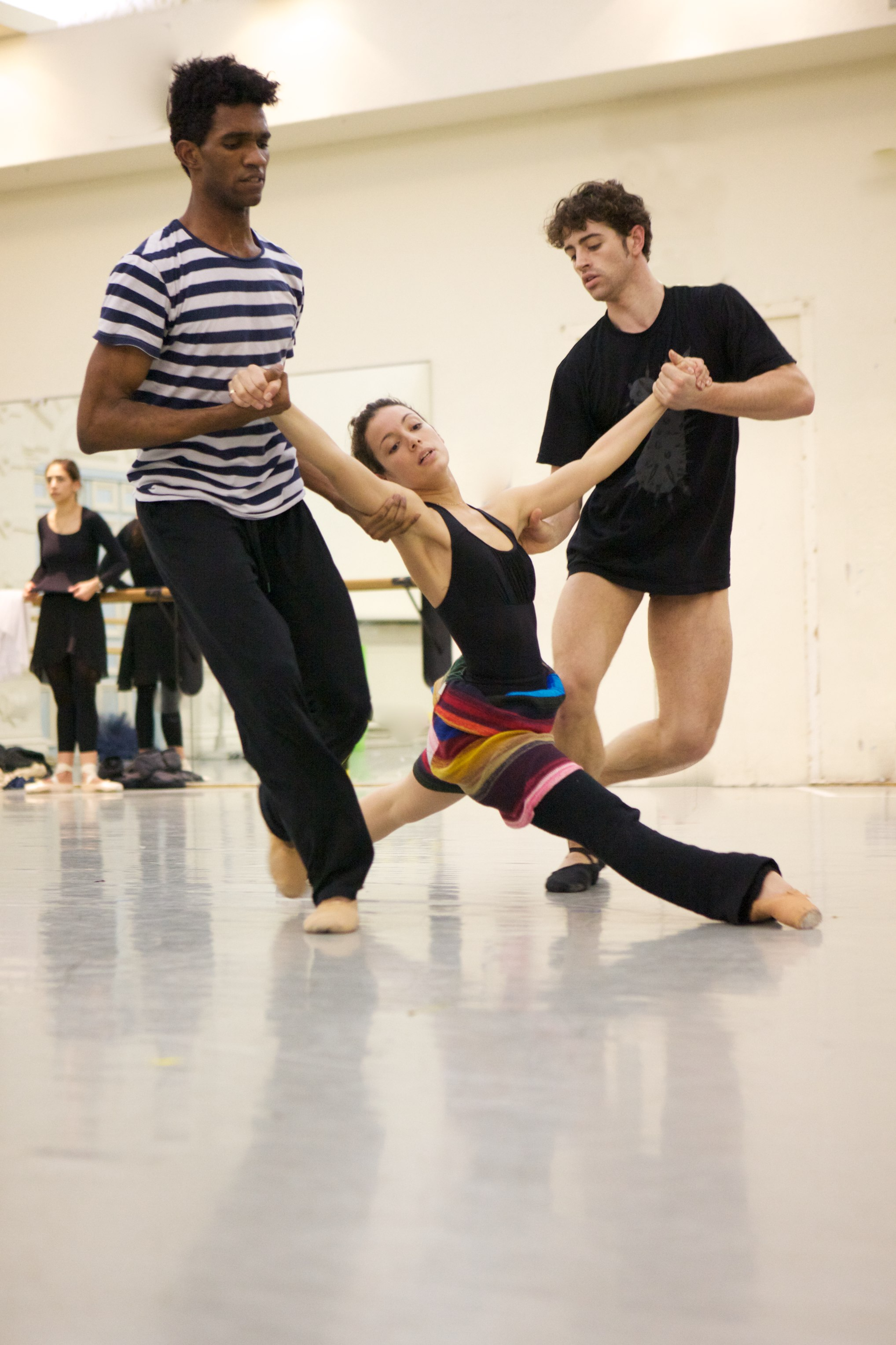 dancers rehearsing for the upcoming Black & White programme