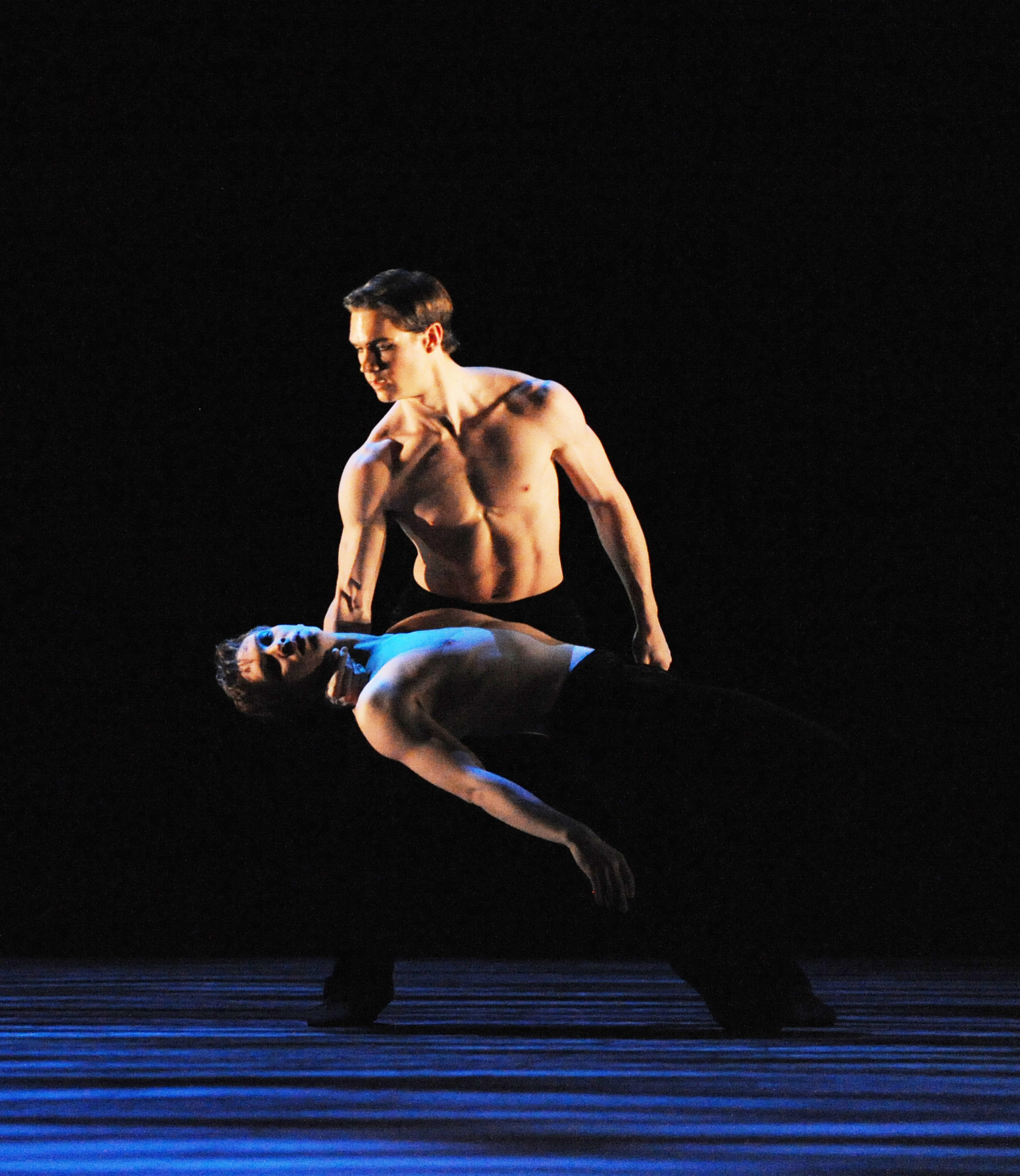 dancer bare chested on stage