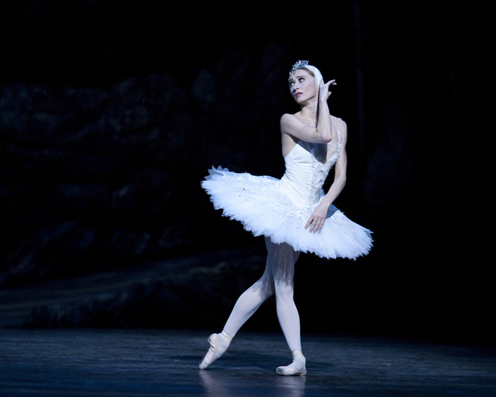 dancer in white Swan Lake tutu