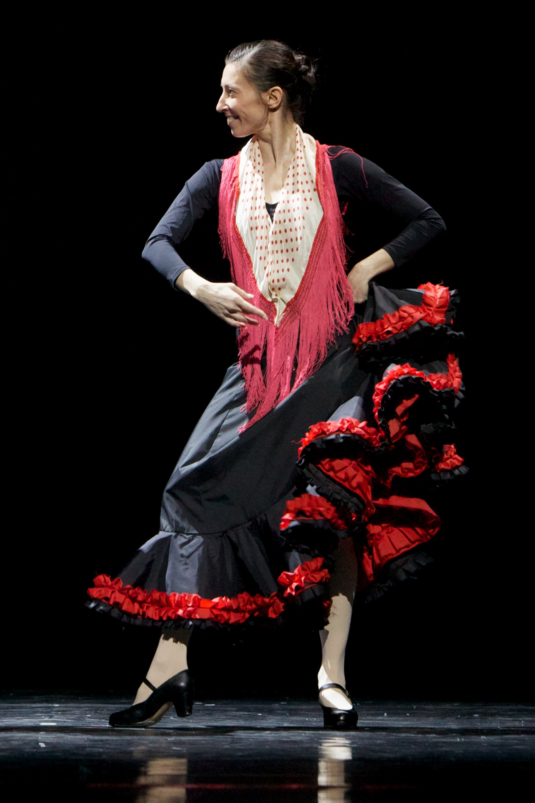 ballet dancer in flamenco costume