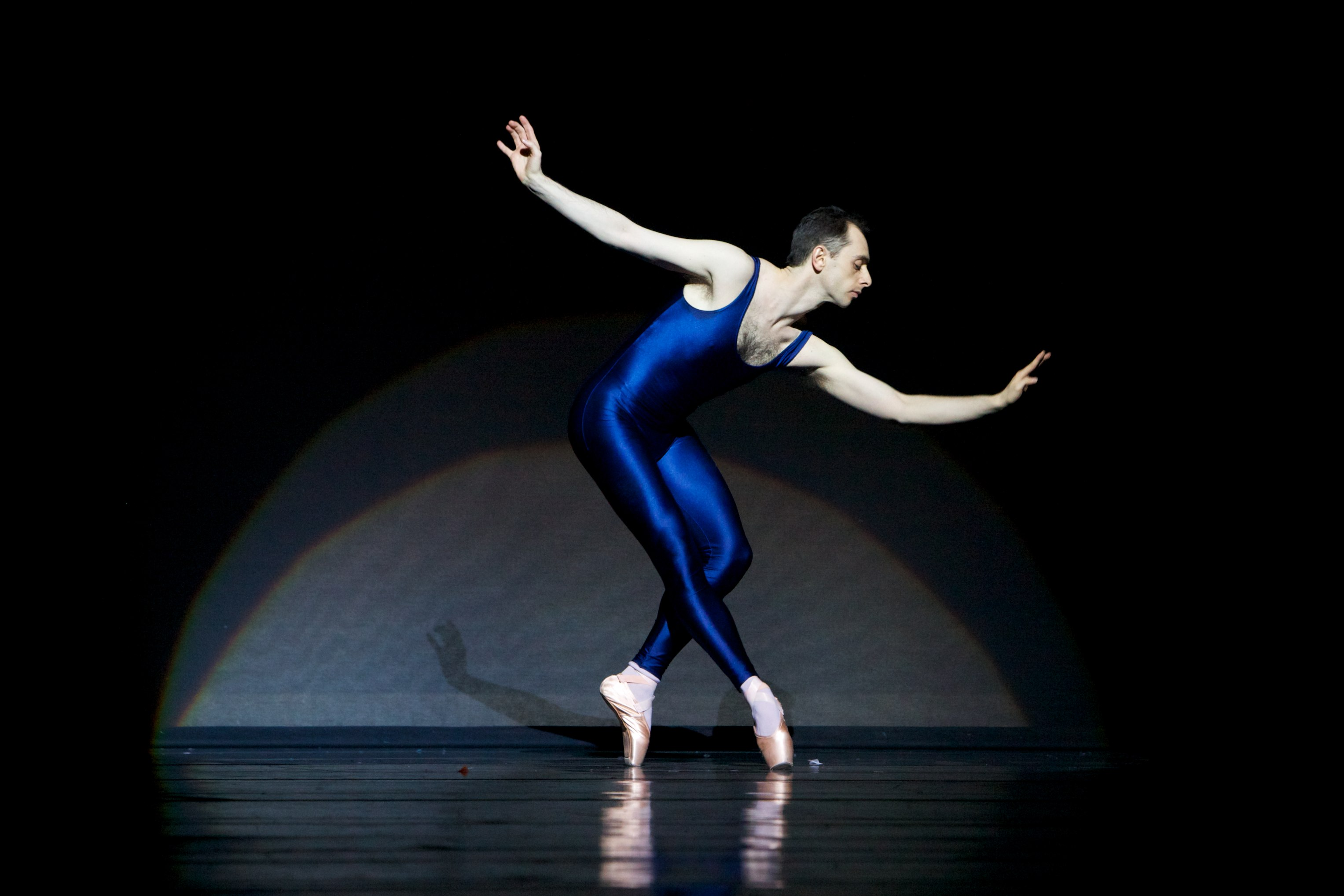 male dancer on pointe