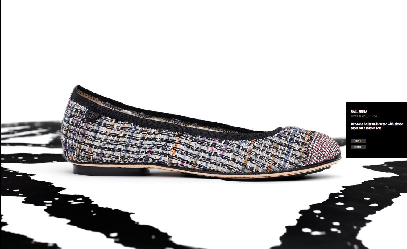 Chanel shoes ballet flats