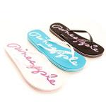 three pairs of flip flops