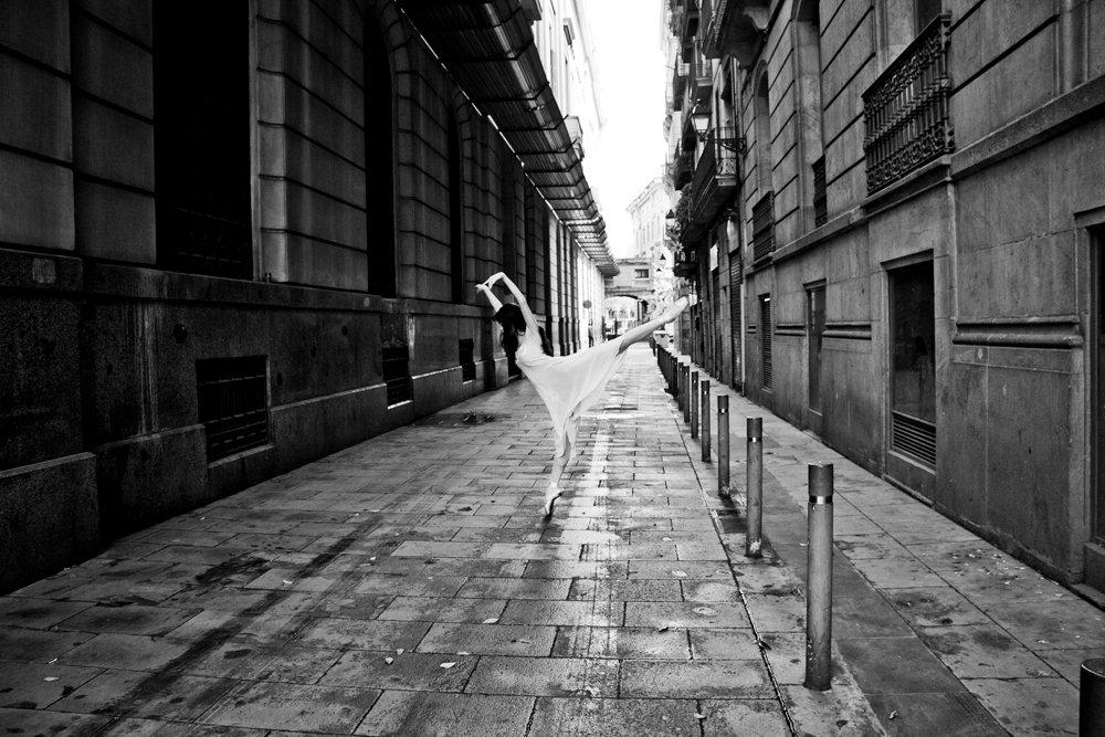 arabesque, ballet, street