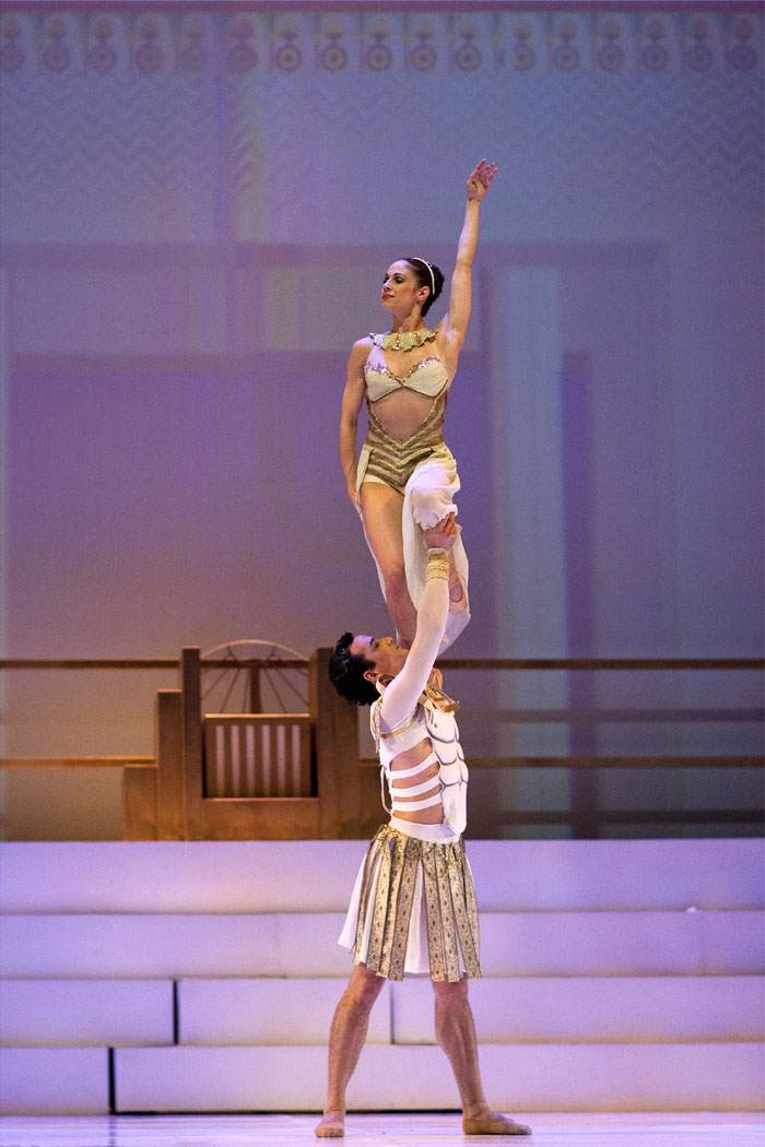 dancer held aloft by another