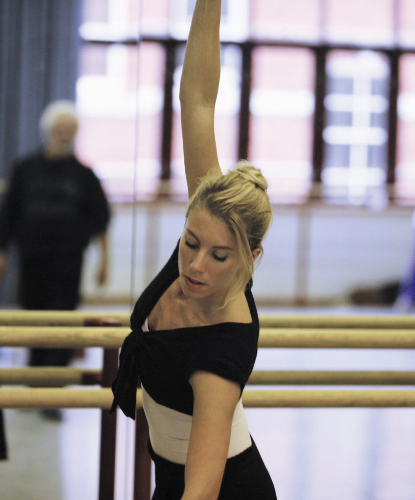 dancer in rehearsal studio