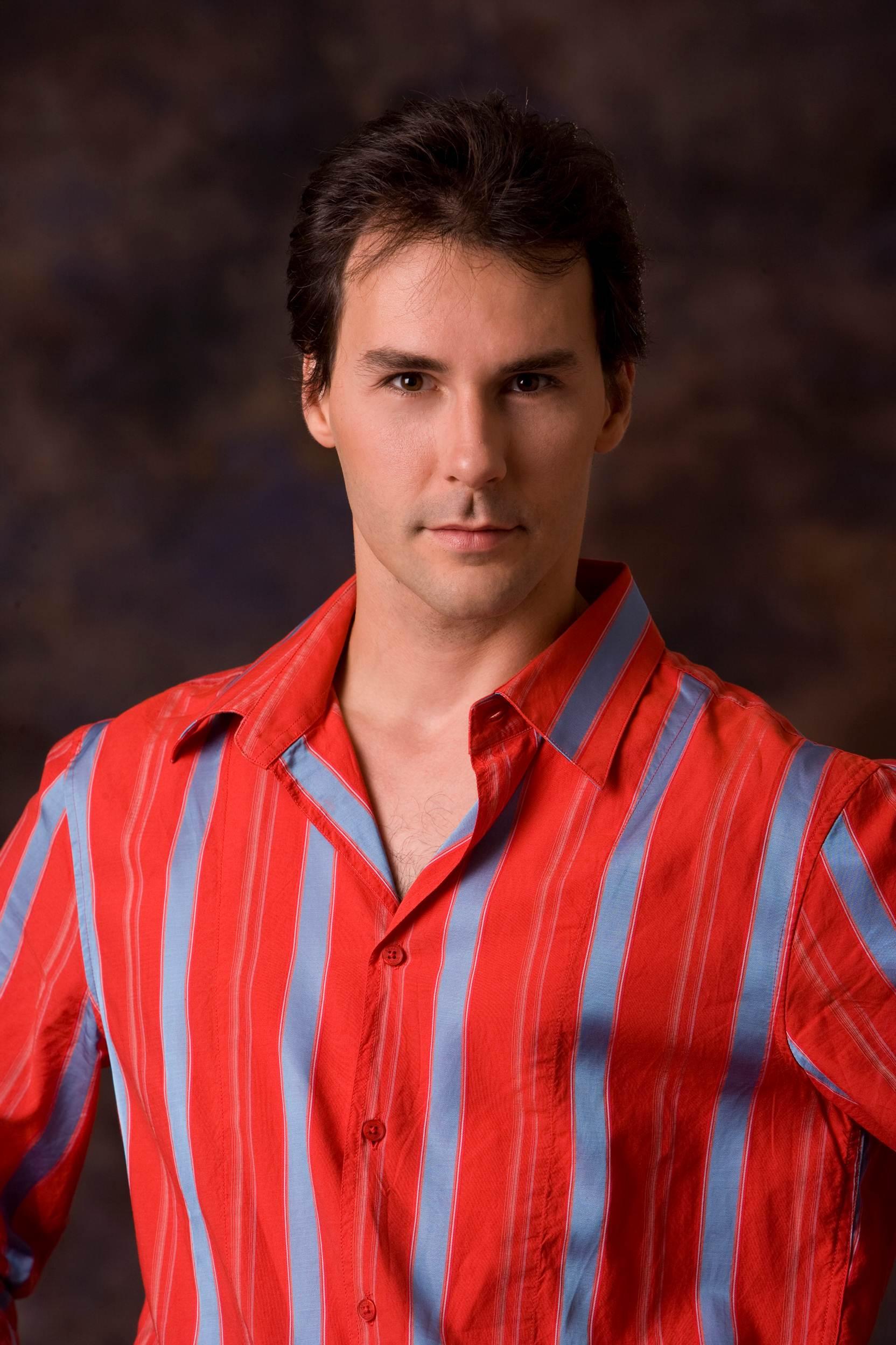 dancer wears a red shirt