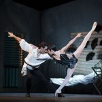 two ballet dancers on stage in Carmen