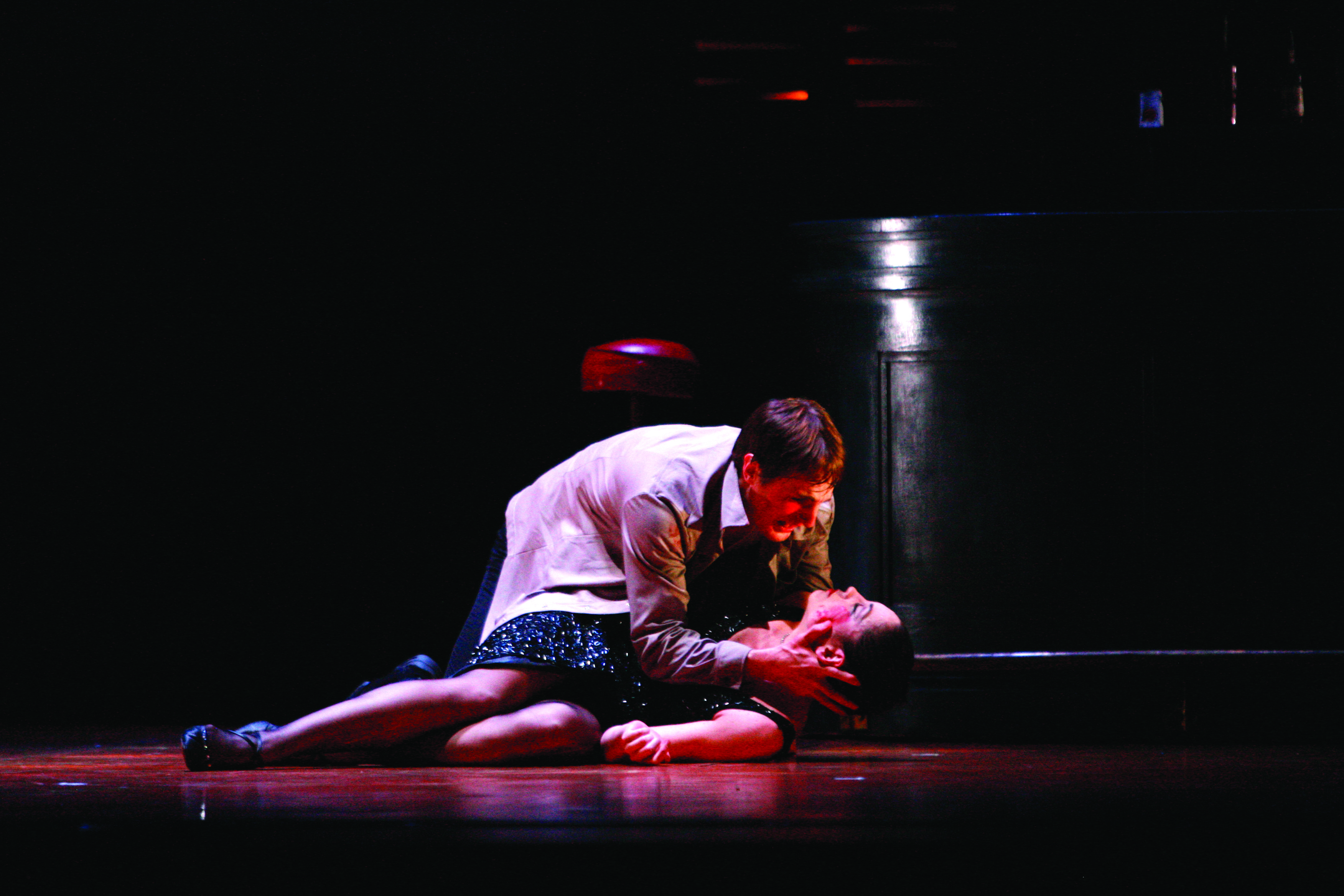 two dancers on stage in Carmen