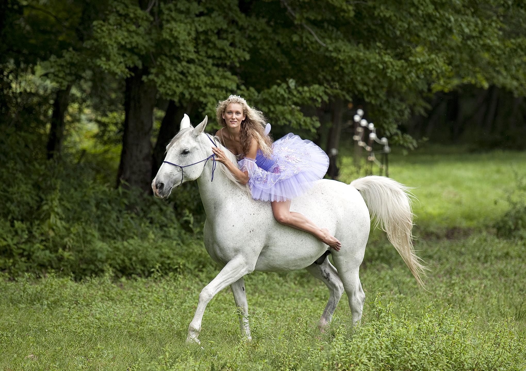 ballet dancer on horseback