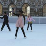 dancers ice skating