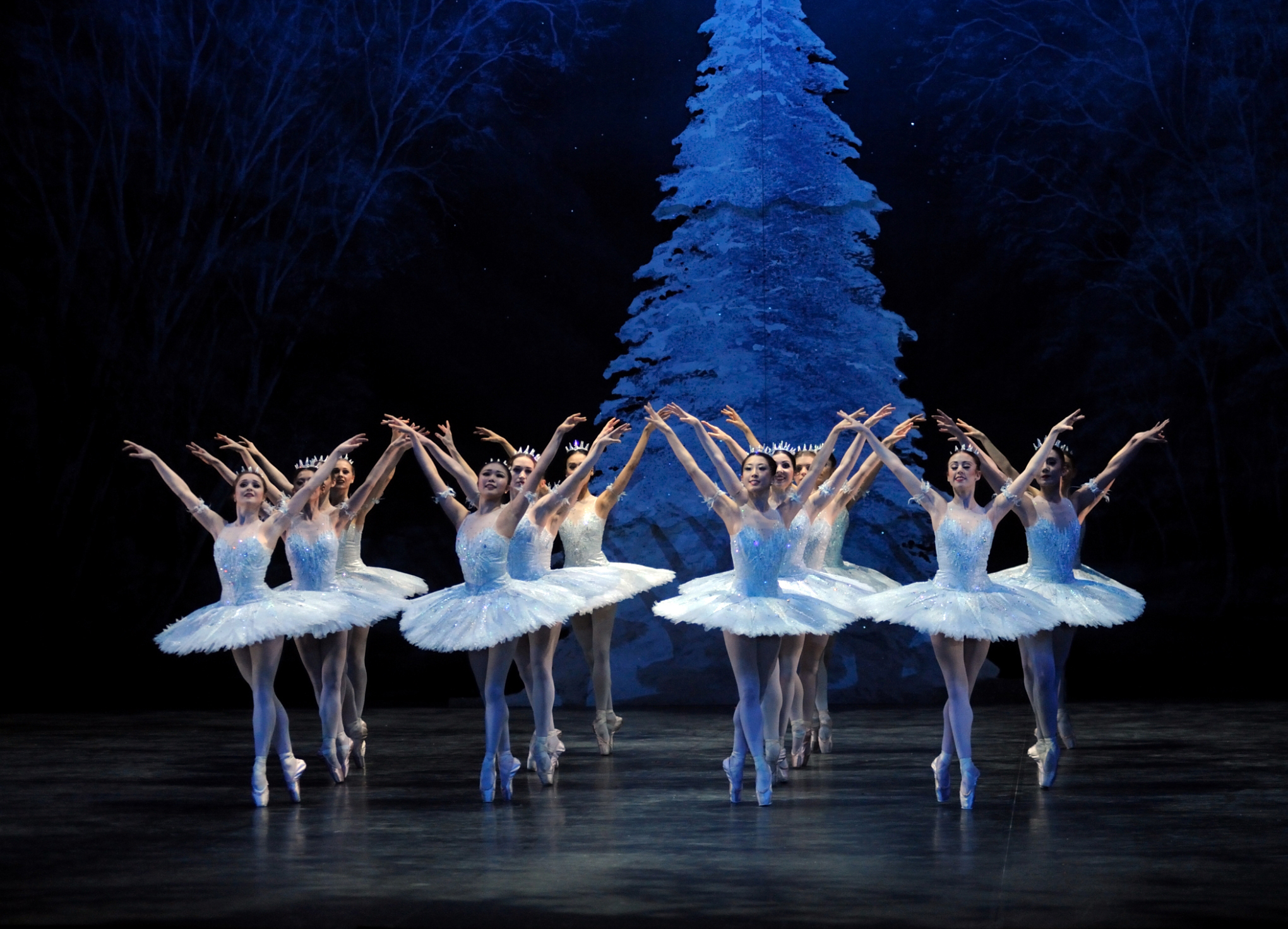 Snowflakes from The Nutcracker in tutus