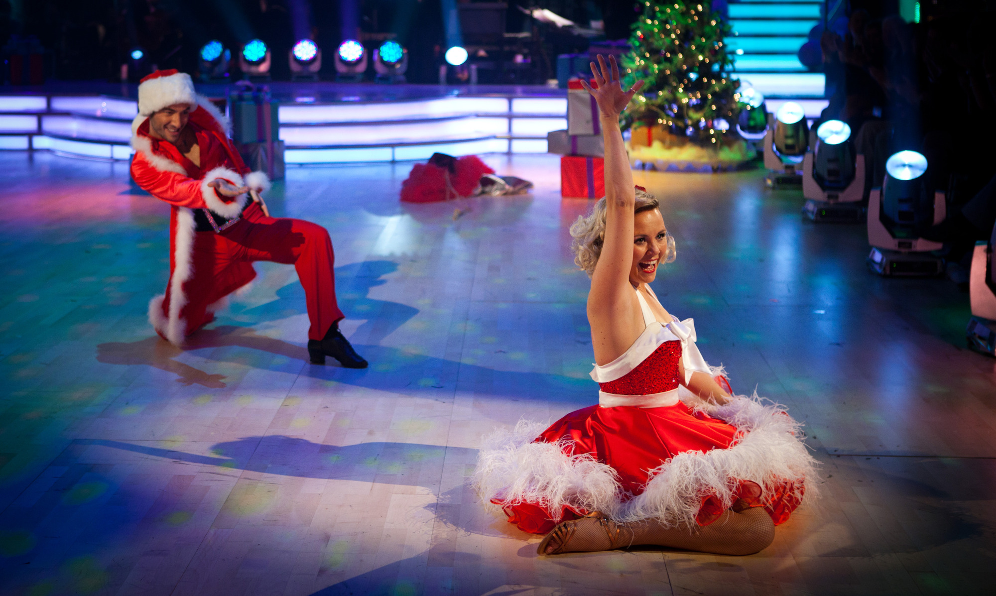 two dancers on Strictly Christmas Special