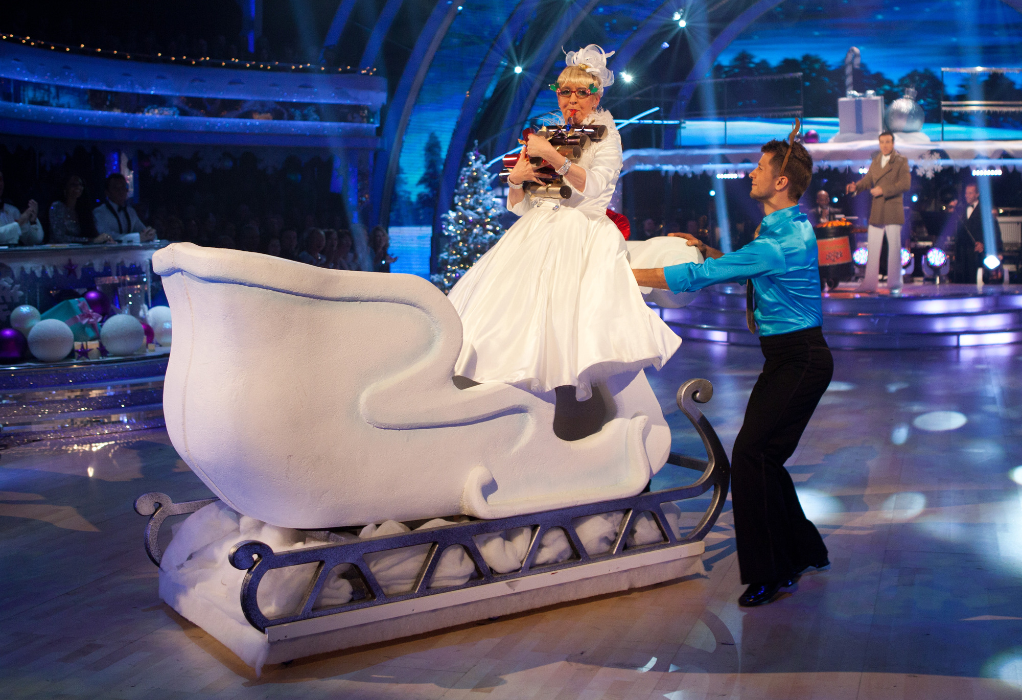 Su Pollard and Anton Du Beke on Striclty Christmas Special
