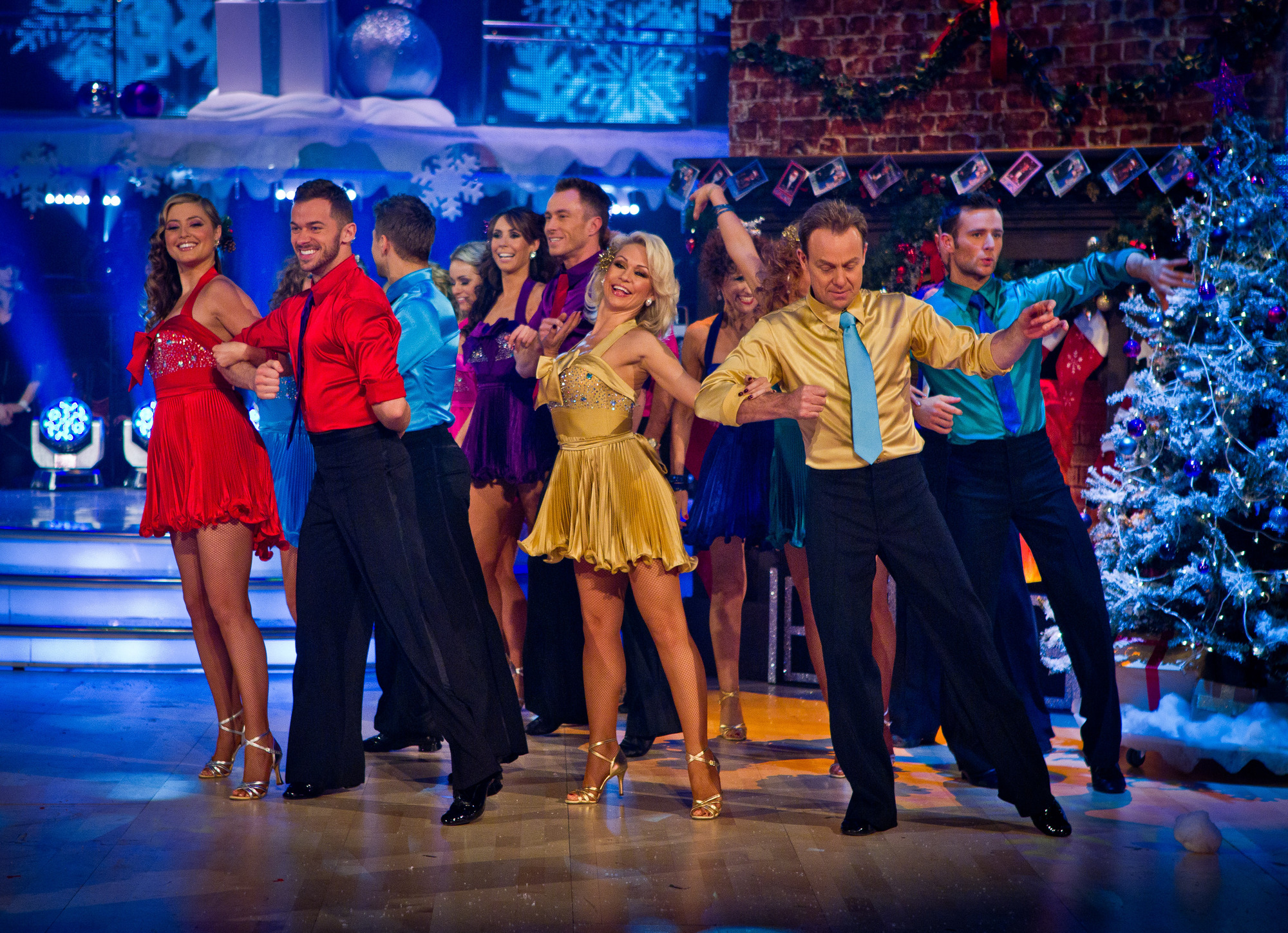 celebrities on Stricrtly Come Dancing christmas special