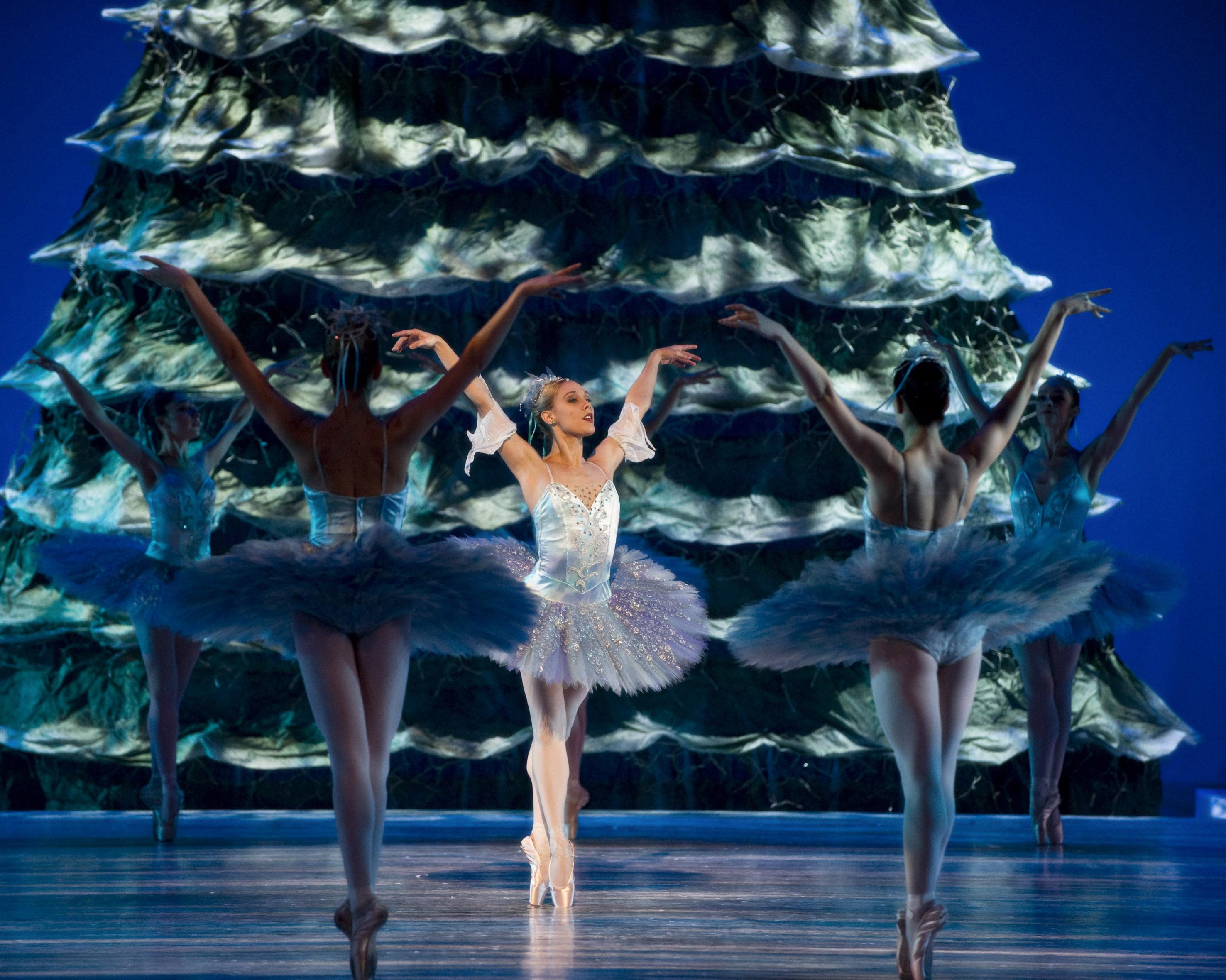 Christmas tree and Nutcracker ballet