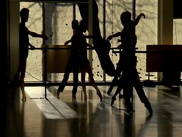 ballet dancers in class