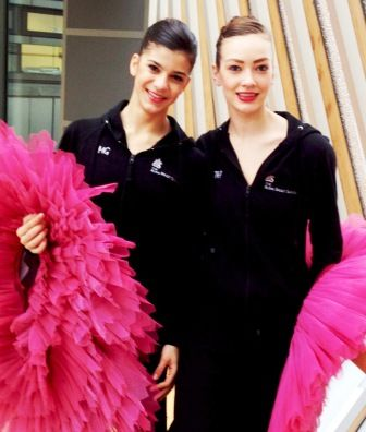 two ballet school graduates