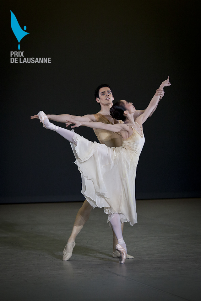 two ballet dancers at the Prix gala