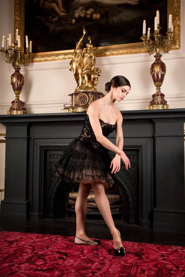 royal ballet dancer Romany Padjak modelling shoes