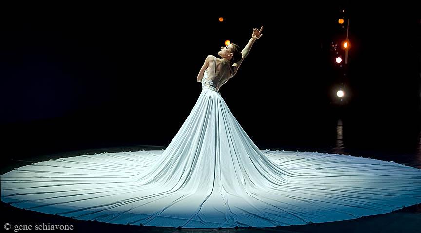 ballet dancer in hudge white dress