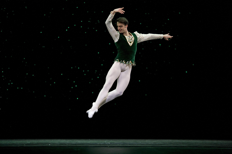 Ruben Martin Cintas in Balanchine's Jewels. Choreography by George Balanchine © The Balanchine Trust; Photo © Erik Tomasson