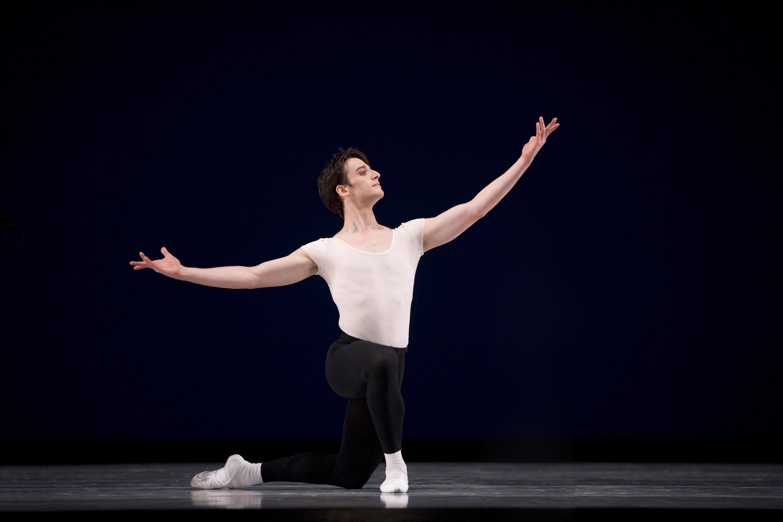 Ruben Martin Cintas in Balanchine's The Four Temperaments.Choreography by George Balanchine © The George Balanchine Trust; Photo © Erik Tomasson