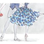 ballet couple blue